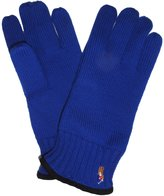 Ralph Lauren Mens 100% Merino Wool Gloves Blue