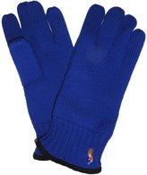 Ralph Lauren Mens 100% Merino Wool Gloves Blue