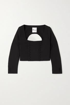 Noir Kei Ninomiya Open-back Wool Top - Black