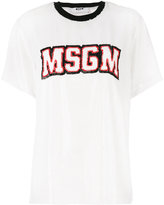 MSGM embellished sequin T-shirt - women - Polyamide/Polyester - 38