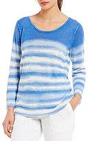 Tommy Bahama Shibori Print Linen Crew Neck Pullover