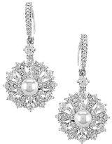 Nadri Lily Cubic Zirconia & Faux-Pearl Clip-On Earrings