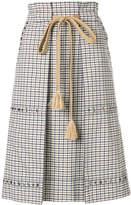 Sonia Rykiel checked pencil skirt