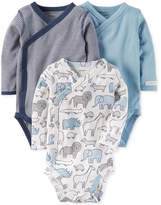 Carter's 3-Pk. Cotton Side-Snap Bodysuits, Baby Boys (0-24 months)