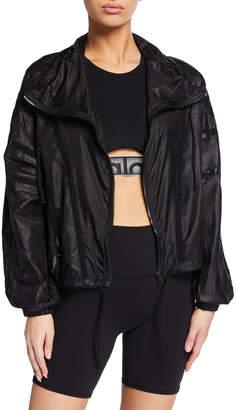 Alo Yoga Stitch Zip-Front Mesh Active Jacket