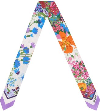 Gucci Floral-Print Scarf