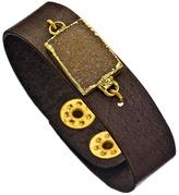 Mickey Lynn Leather Snap Cuff Bracelet