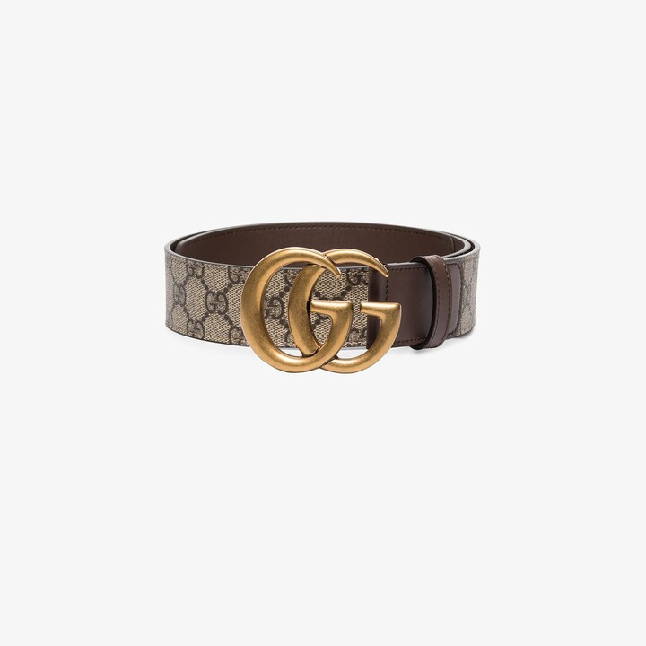 Gucci Brown GG Marmont Leather Belt