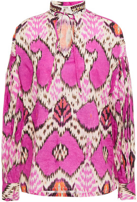 Etro Embellished Printed Cotton-poplin Blouse