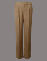 Autograph Twill Pleated Wide Leg Trousers