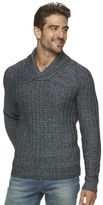 Marc Anthony Men's Slim-Fit Marled Raglan Shawl-Collar Sweater