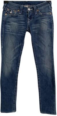 True Religion Blue Cotton - elasthane Jeans for Women