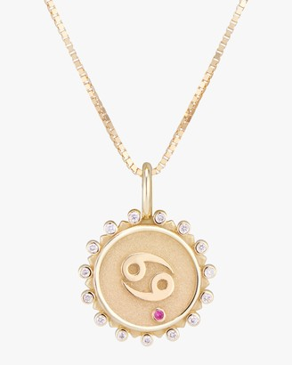 Marlo Laz Zodiac Cancer Pendant Necklace