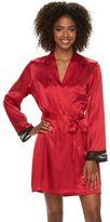 Apt. 9 Women's Lace Satin Wrap Robe