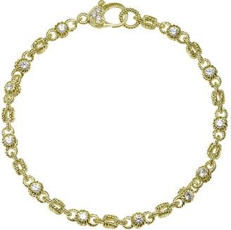 "Judith Ripka 14K Clad & Diamonique Rolling 6-3/4"" Bracelet"