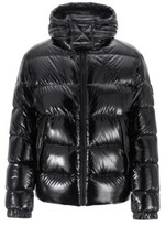 HUGO BOSS - Regular Fit Down Jacket In Lustrous Fabric - Black
