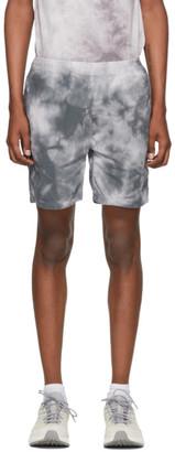 Remi Relief Grey Flannel Tie-Dye Easy Shorts