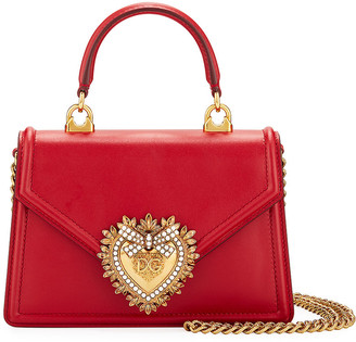 Dolce & Gabbana Devotion Mini Leather Top-Handle Bag