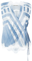 Ermanno Scervino lace inserts wrap blouse - women - Viscose - 42