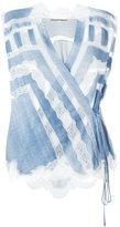 Ermanno Scervino lace inserts wrap blouse - women - Viscose - 44