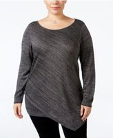 Love Scarlett Plus Size Metallic Asymmetrical Sweater