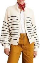 Alex Mill Stripe Button Back Sweater