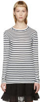 Etoile Isabel Marant White and Blue Karon Striped T-Shirt