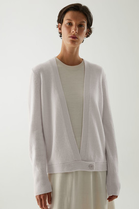 Cos Recycled Cashmere Wrap Cardigan