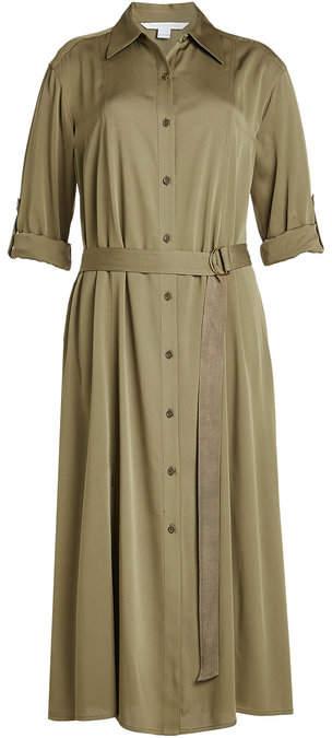 Diane von Furstenberg Silk Dress with Belted Waist