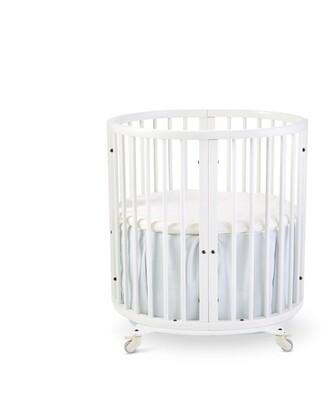 Stokke x Pehr Sleepi Mini Crib Bed Skirt Mist