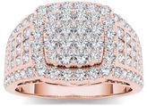 MODERN BRIDE 1 1/2 CT. T.W. Diamond 10K Rose Gold Engagement Ring