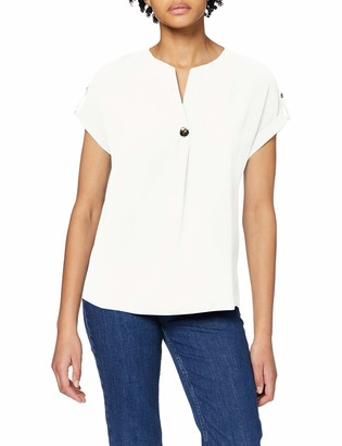 Dorothy Perkins Women's Ivory Sustainable Utility Drop Shoulder Top Blouse 6
