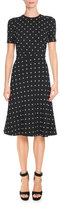 Givenchy Anna Mini Lily-Embroidered Dress, Black