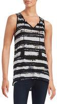Kensie Striped Knit Tank Top
