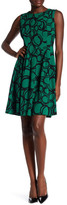 Anne Klein Circle Print Fit & Flare Dress