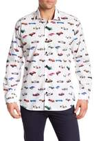 Jared Lang Car Pattern Woven Shirt
