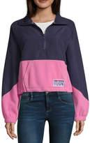 U.S. Polo Assn. Juniors Womens Funnel Neck Long Sleeve Quarter-Zip Pullover