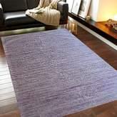Cornermill Chocho Silk Sari Hand Woven Rug, Drap Purple 150 x 240cm