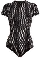 Lisa Marie Fernandez Farrah polka-dot print bonded swimsuit