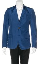 Alexander McQueen Silk Two-Button Blazer