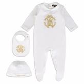 Roberto Cavalli White Baby Grow