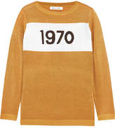 Bella Freud Sparkle 1970 Metallic Knitted Sweater - Gold
