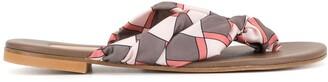 Avec Modération Geometric Scarf Sandals