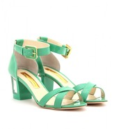VESTAL LEATHER SANDALS WITH BLOCK HEEL