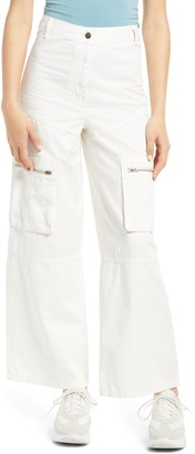Topshop Safra Wide Leg Trousers