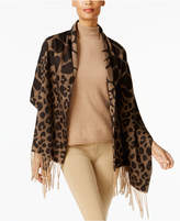 Charter Club Mixed Animal-Print Wrap and Scarf in One, Created for Macy's