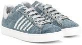Am66 - denim sneakers - kids - Goat Skin/Leather/cotton/glass - 24
