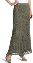 Chico's Chloe Crocheted Lace Maxi Skirt