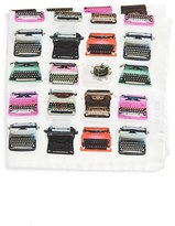 Eton Men's Typewriter Print Silk Pocket Square