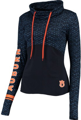 Colosseum Women's Navy Auburn Tigers Scaled Cowl Neck Pullover Hoodie